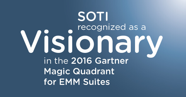 Gartner positions SOTI as a Visionary in Magic Quadrant for Enterprise Mobility Management Suites